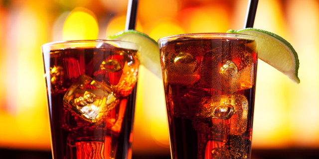 photo of two long island iced tea drinks
