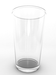 empty pint glass